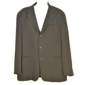 Emporio Armani sports coat blazer SZ 44 black 100%